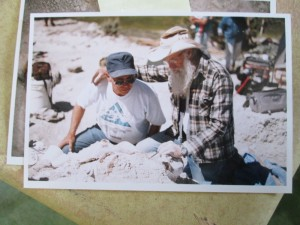 Joe Taylor working on Jurassic fossils during a Colorado dig in the late 90's